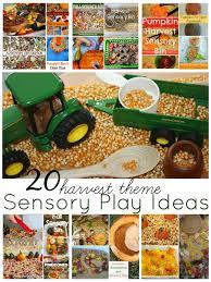 harvest sensory bins for fall sensory play play ideas fall