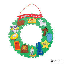 name of jesus wreath craft kit 12 pk party supplies canada