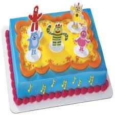 yo gabba gabba dance party cake topper set walmart com