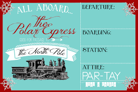 printable christmas party invitations polar express party invitation party like a cherry