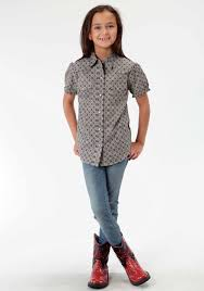 girls short sleeve western shirt sierra madre