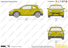 The Blueprints Com Vector Drawing Opel Adam Rocks