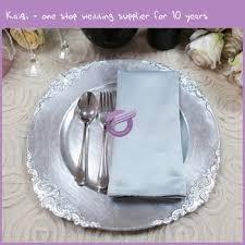 wedding plates cheap 18108 hot sale kaiqi wedding cheap decoration wholesale plastic