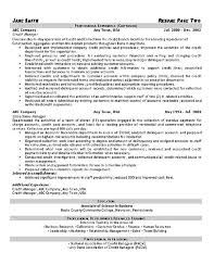 free printable credit collections manager or debt collector resume