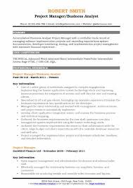 business analyst resume template business analyst project manager resume sles qwikresume