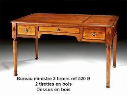 bureau merisier bureau ministre 3 tiroirs en merisier massif à prix fabriquant
