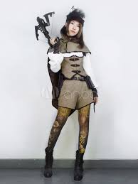 Halloween Steampunk Costumes Halloween Steampunk Costume Women U0027s Khaki Suede Shorts Halloween