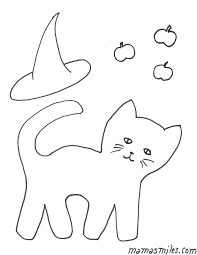 Black Cat Halloween Crafts Halloween Cat Coloring Pages Getcoloringpages Com