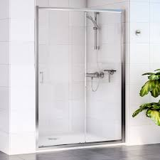 Shower Door 720mm Aqualux Shine Sliding Shower Door 1160423 1200mm Polished Clear