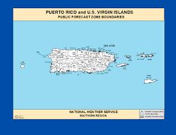 Usa Weather Map Maps Puerto Rico U0026 U S Virgin Islands Zone Forecast Boundaries