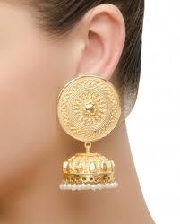 bengali earrings buy floral design jhumka earrings online