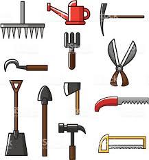 cartoon gardening tools icons stock vector art 134433704 istock