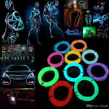 2017 5m flexible neon light el wire christmas lighting neon