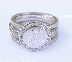 monogram rings sterling silver sterling silver engraved monogram ring handmade name ring custom