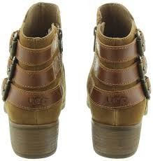 ugg womens josie heeled boots stout ugg volta heeled ankle boots in chestnut in chestnut