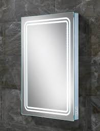 hib rotary led back lit mirror with shaver socket 77416000