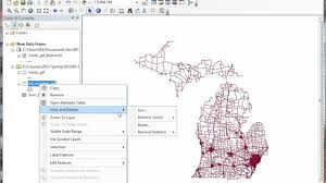 Map Michigan Counties by Road Density By Michigan Counties Youtube