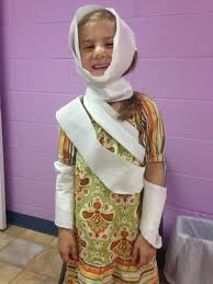 toliet paper bandages and bandaids for the 10 lepers bible story