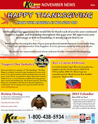 happy thanksgiving from kee auto top