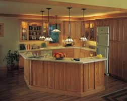 pretty brown wooden kitchen island features rectangle shape