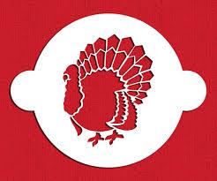 thanksgiving turkey cake stencil