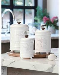 kitchen canister amazing deal on mud pie 4931002 kitchen canister set of 3 white