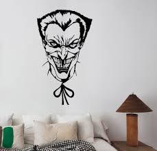 joker wall art decal dc comics movie superhero sticker decorations