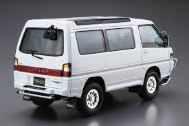 mitsubishi delica 2016 1 24 mitsubishi p35w delica star wagon u002791 aoshima english