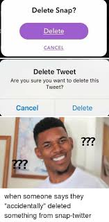Tweet Meme - delete snap delete cancel delete tweet are you sure you want to