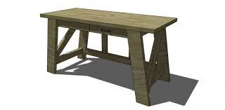 Wood Desk Plans Free by Free Diy Furniture Plans To Build A Pottery Barn Inspired Hendrix