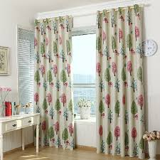 Pink And Teal Curtains Decorating Lovely Pink And Green Tree Pattern Thick Polyester Blackout