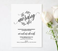 morning after wedding brunch invitations post wedding brunch invitation printable the morning after