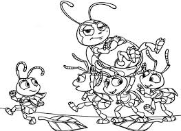 ant colony lifting francis bugs coloring pages