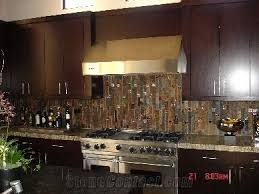 slate backsplash kitchen rust slate backsplashes kitchen design kitchen and bath ideas
