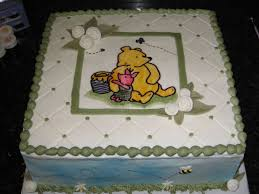 winnie the pooh baby shower cake classic winnie the pooh baby shower cake buttercream with