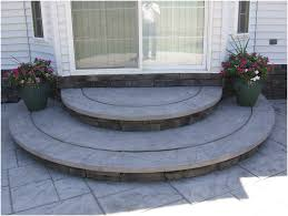 Stamped Patio Designs by Backyards Awesome Gray Stamped Concrete Patio With Beige