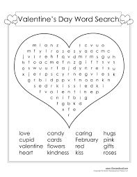 free valentine u0027s day word search printable