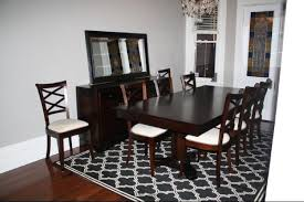 dining table with rug underneath large dining room rugs www elsaandfred com