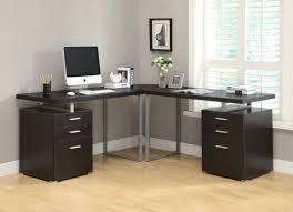 Monarch Computer Desk Cappuccino Hollow L Shaped Computer Desk Monarch Specialties