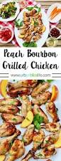 Chicken Main Dish - peach bourbon grilled chicken summer bbq recipe