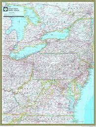 us map middle states middle atlantic atlas wall map maps