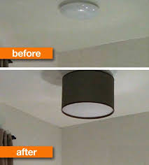 Ceiling Lights With Shades How To Make A Diy Drum Shade Apartment Therapy