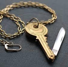key shaped necklace images Fashion key shaped pocket knife necklace sick of the radio jpg