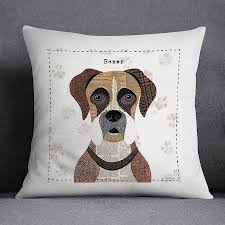 boxer dog 2015 diary boxer dog personalised cushion cover by simon hart