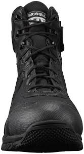 motorcycle boots shoes h a w k waterproof side zip black tactical boots original s w a t