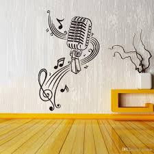 new fashion music notes microphone stickers setting pvc waterproof new fashion music notes microphone stickers setting pvc waterproof wall mural home sitting room bedroom adornment