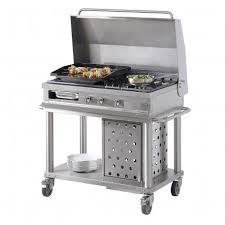 feu vif cuisine plancha gaz 2 zones et 1 feu avec couvercle relevable de la gamme