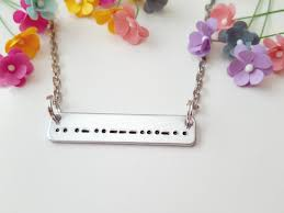 morse code necklace personalized morse code necklace morse code jewelry secret message necklace