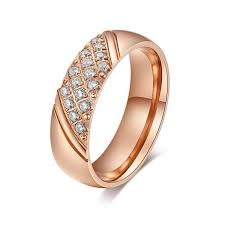 the goods wedding band gold women wedding rings bands with clear cz diamond top