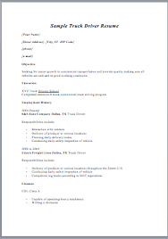 sample resume format driver resume ixiplay free resume samples